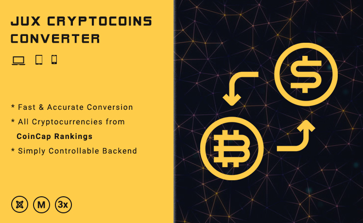 JUX Cryptocoins Converter - Responsive Joomla Extensions