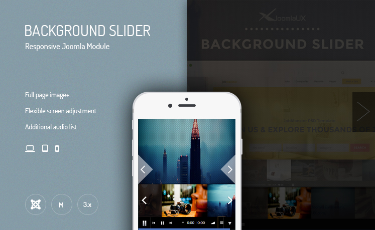 JUX Background Slider - Responsive Joomla Module