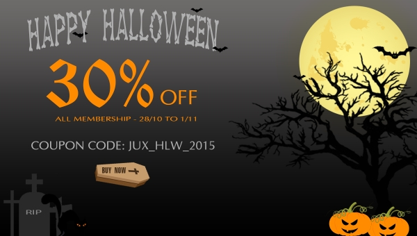 Happy Halloween from JoomlaUX with 30% DISCOUNT